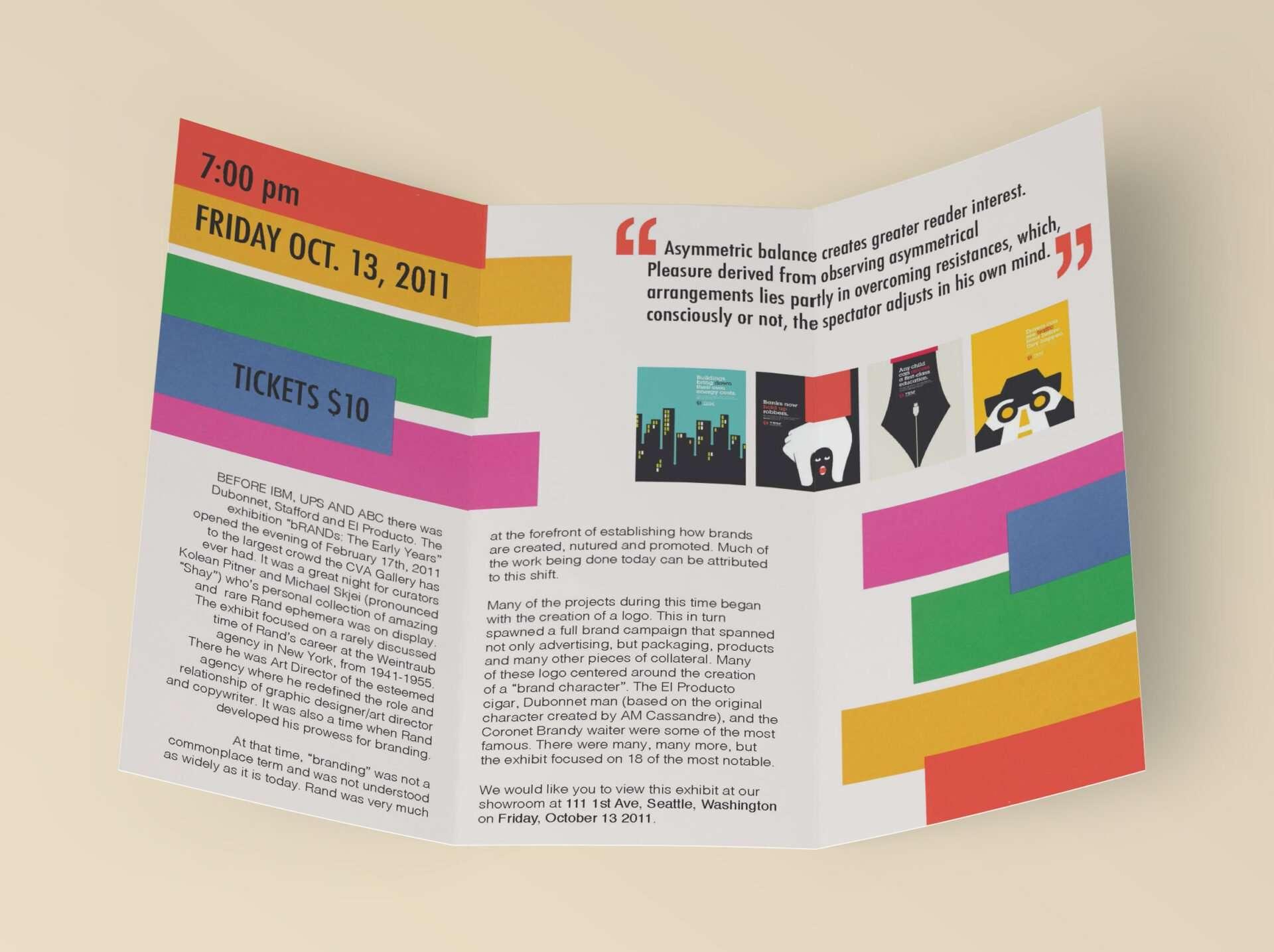 Event Brochure - Paul Rand